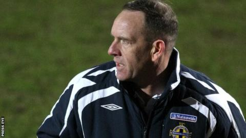 Kenny Shiels watched Glentoran's draw with Coleraine