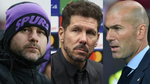 Mauricio Pochettino, Diego Simeone and Zinedine Zidane