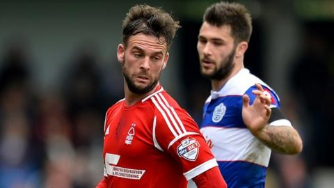 Danny Fox in action for Forest against QPR