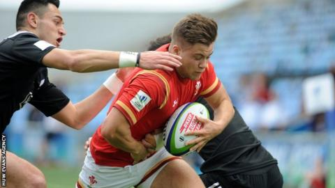 Joe Gage of Wales in action against New Zealand Under-20