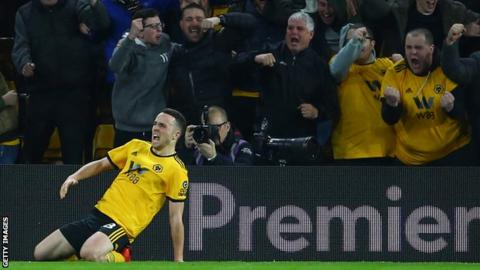 582f6d091 Diogo Jota scored his first goal in the Premier League after netting 17  goals in the Championship in 2017-18