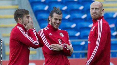 Aaron Ramsey, Gareth Bale and James Collins