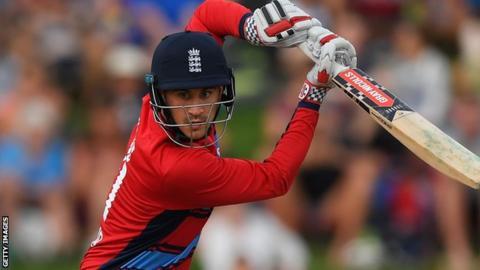 Alex Hales batting for England