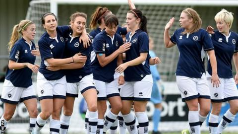 Millwall Lionesses celebrate