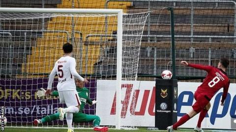 Ostersunds midfielder Jamie Hopcutt