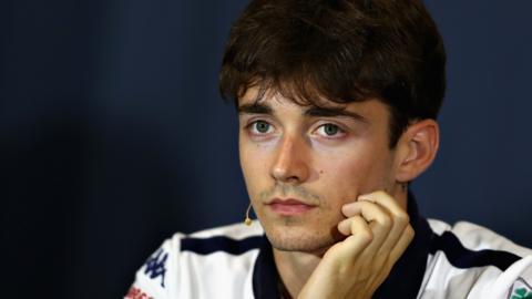Sauber F1 driver Charles Leclerc