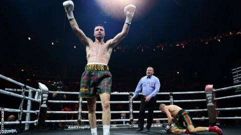 Josh Taylor beat Ivan Baranchyk in Glasgow in May to claim the IBF title