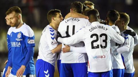 Rangers celebrate Andy Halliday's opening goal