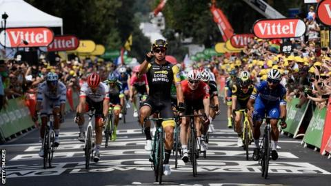Car crash victim Degenkolb wins 9th stage of Tour de France