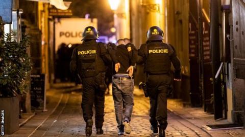 Police make arrests in Prague at Czech Republic v England
