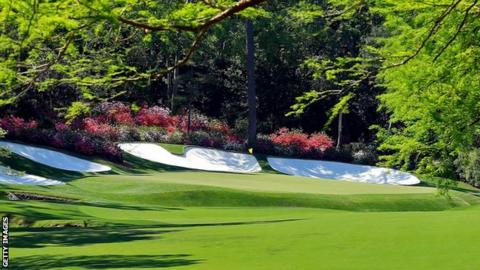The 13th green at Augusta National