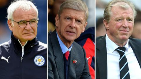 Claudio Ranieri, Arsene Wenger and Steve McClaren