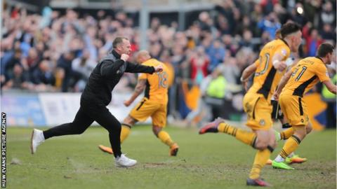 Newport County beat Notts County 2-1 on the last day of last season to avoid relegation
