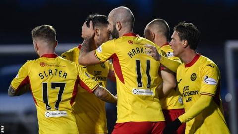 Partick Thistle are bottom of the Scottish Championship and beat Stenhousemuir last weekend to reach the Challenge Cup semi-finals