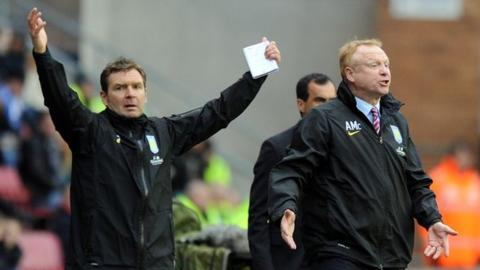 Peter Grant (left), Alex McLeish (right)