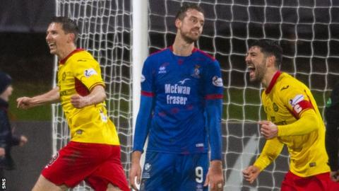Partick Thistle's game in hand is against Inverness Caledonian Thistle, who they have beaten on both previous occasions this season