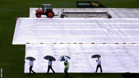 Umpires inspect in Hobart