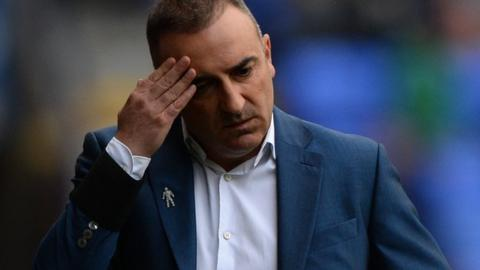 Former Sheffield Wednesday boss Carlos Carvalhal looks rueful