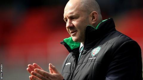 London Irish head coach Tom Coventry