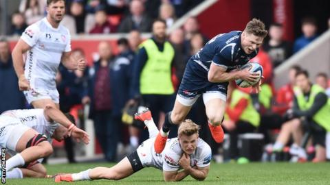 Chris Ashton in action for Sale Sharks