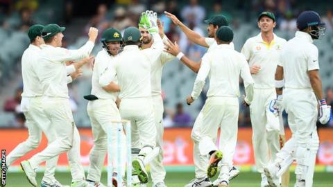 India all out 307, Australia need 323 to win first Test