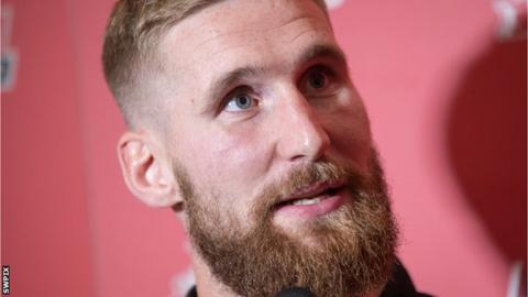 Sam Tomkins speaks to the press ahead of the Challenge Cup Final
