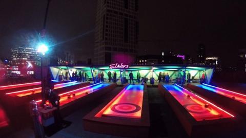 Rooftop curling venue in east London