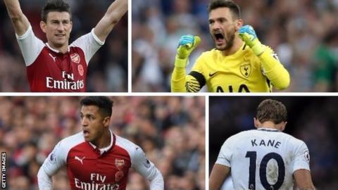 Arsenal Spurs collage