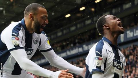 Rekeem Harper (right) scored his first senior goal for West Bromwich Albion in their win against Rotherham United