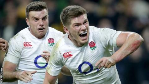 England 10 and 12 George Ford and Owen Farrell