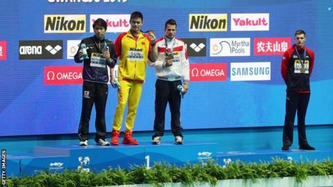 World Aquatics Championships: Scott wins 200m freestyle bronze as Sun Yang takes gold