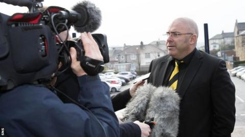 Alloa Athletic chairman Mike Mulraney