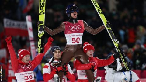 Poland's Stoch successfully defends Olympic ski jumping crown at Pyeongchang 2018