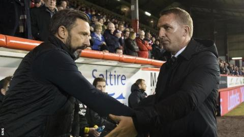 Brendan Rodgers pleased as Celtic earn