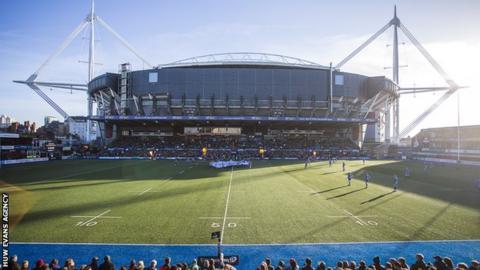 Cardiff Arms Park on a sunny day