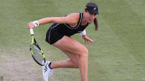 Resilient Konta takes the positives despite infuriating Nottingham loss