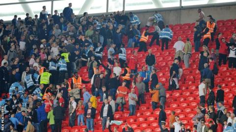 Crowd trouble at Wembley