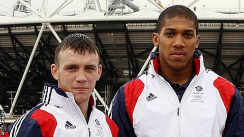 Fred Evans and Anthony Joshua