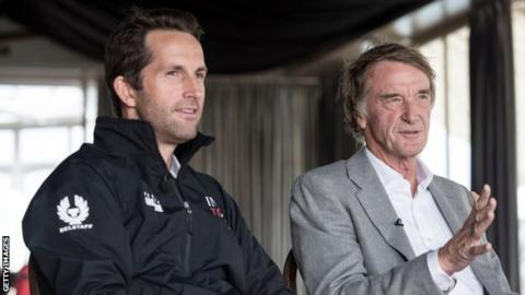 Sir Jim Ratcliffe (right) and Sir Ben Ainslie