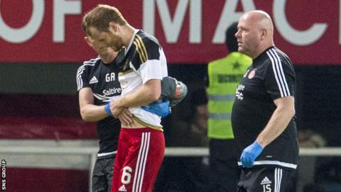 Mark Reynolds was injured in the opening Europa League qualifier