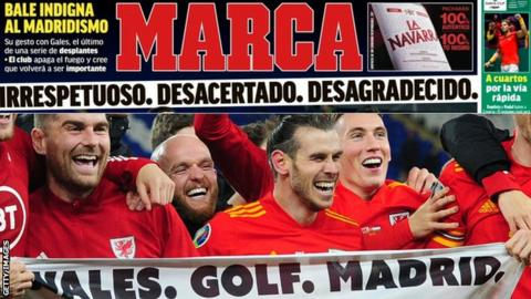 Spanish media response to controversial Bale banner