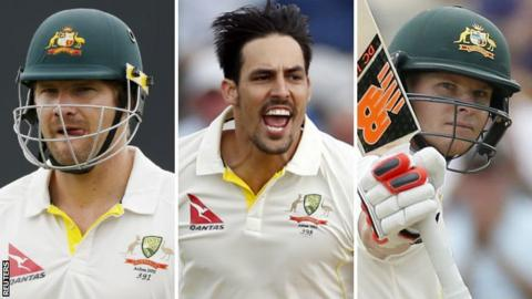 Shane Watson, Mitchell Johnson and Steve Smith