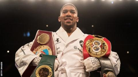Anthony Joshua will defend world titles against Alexander Povetkin at Wembley