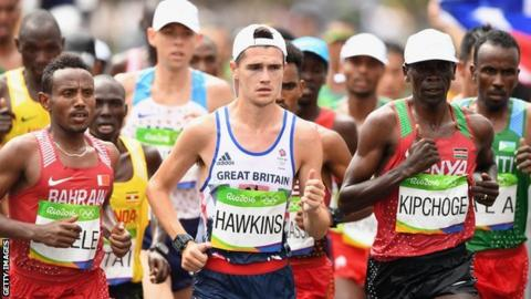 Callum Hawkins finished ninth in the marathon at the Rio Olympics