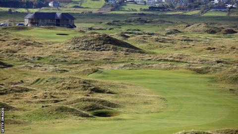 The view of the eighth hole at Ballyliffin's Glashedy course