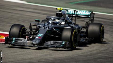 Valterri Bottas of Mercedes
