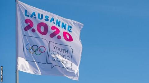 Lausanne 2020 Winter Youth Olympics flag