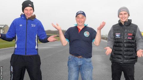 Ryan Rainey, Mark Sanlon and Malachi Mitchell-Thomas at Bishopscourt