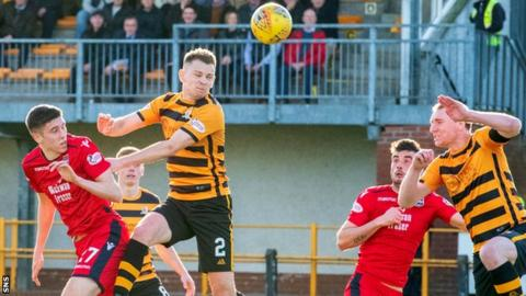 Ross Stewart has a chance for Ross County against Alloa Athletic