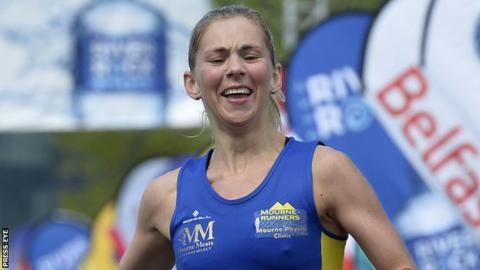 Laura Graham won the 2017 Belfast Marathon
